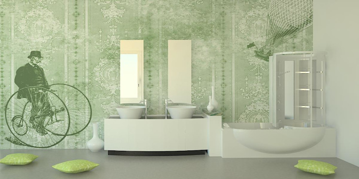 Paredes y pisos de estilo clásico de PIXIE progetti e prodotti Clásico