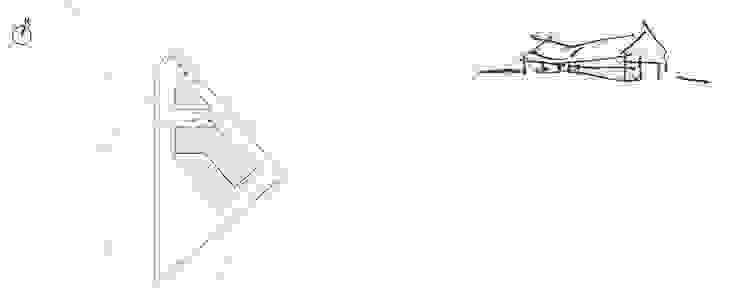 DOM NA TRÓJKĄTNEJ DZIAŁCE Minimalistyczne domy od BASK grupa projektowa Minimalistyczny