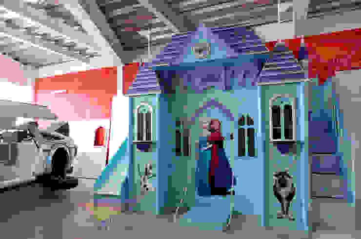 Hermoso castillo de Frozen de camas y literas infantiles kids world Clásico Madera Acabado en madera