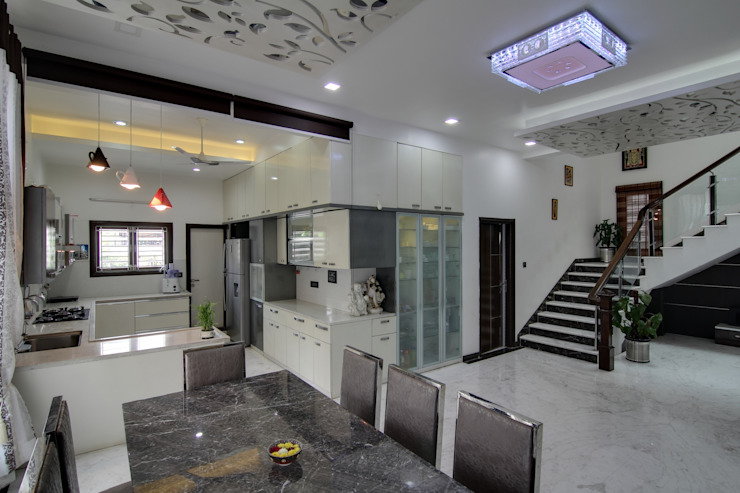 Kitchen view Modern kitchen by KREATIVE HOUSE Modern Marble