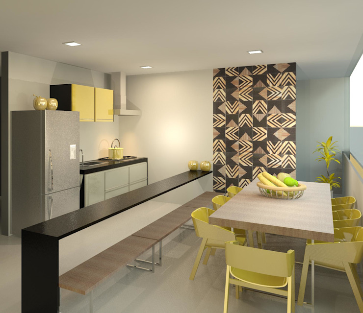Patrícia Alvarenga Modern kitchen Yellow
