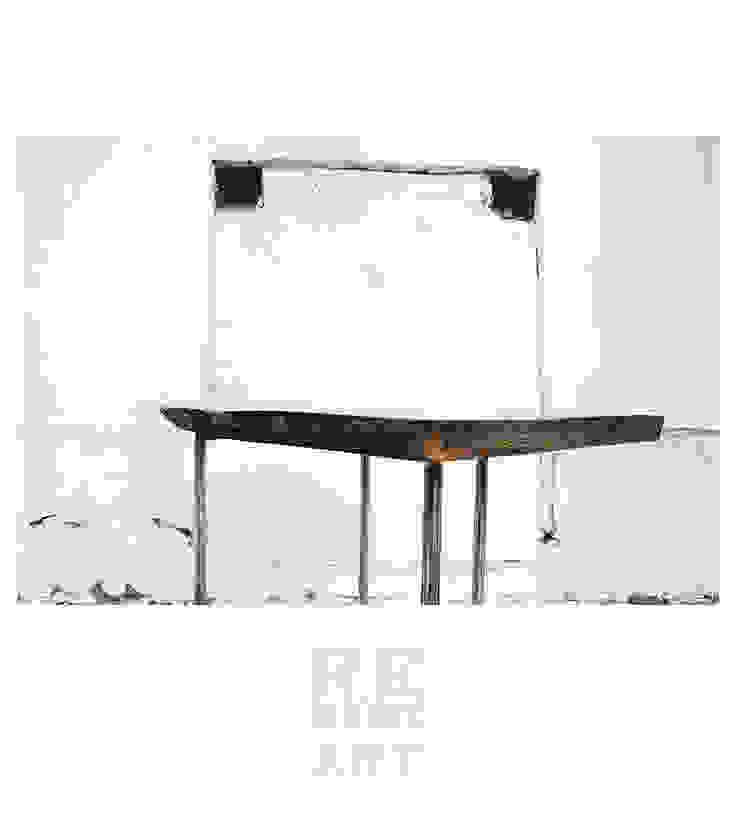 Stolik Kawowy Z Litego Dębu od ReNowe Art Skandynawski Drewno O efekcie drewna