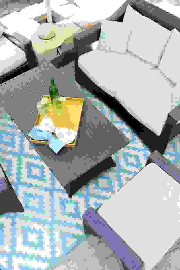 Aqua Sky outdoor rug made from recycled plastic de Green Decore Moderno Plástico