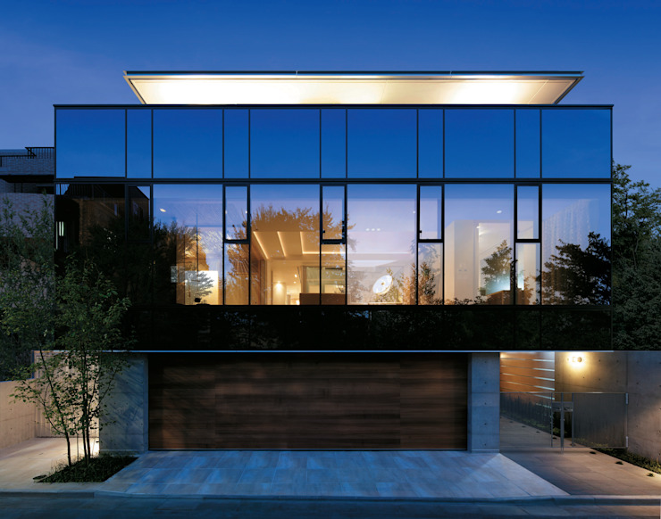 Modern houses by Mアーキテクツ|高級邸宅 豪邸 注文住宅 別荘建築 LUXURY HOUSES | M-architects Modern Glass