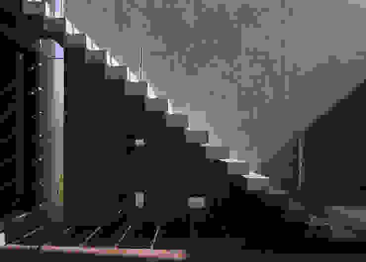 屋外階段 モダンデザインの テラス の 本田建築設計事務所 モダン