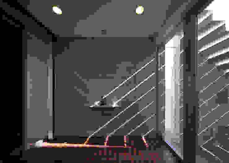 玄関 モダンスタイルの 玄関&廊下&階段 の 本田建築設計事務所 モダン
