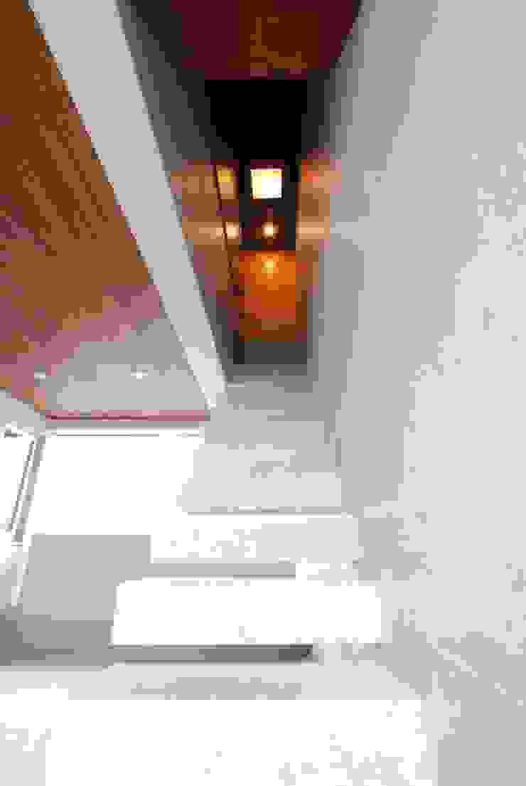 屋外階段 モダンスタイルの 玄関&廊下&階段 の 本田建築設計事務所 モダン