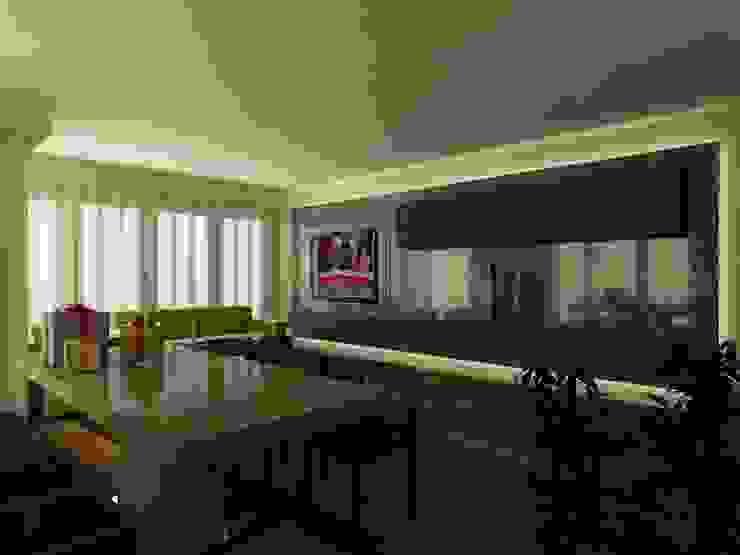 PRATIKIZ MIMARLIK/ ARCHITECTURE – ZD House Living Room: minimalist tarz , Minimalist Orta Yoğunlukta Lifli Levha