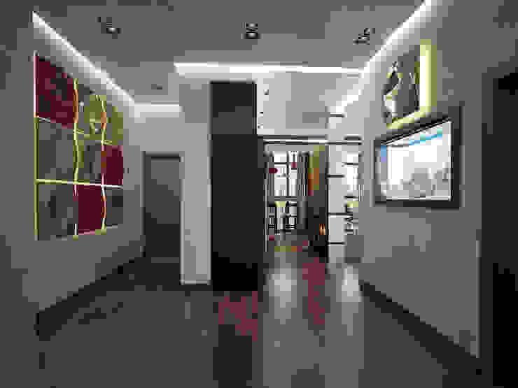 эклектика современности Коридор, прихожая и лестница в эклектичном стиле от Decor&Design Эклектичный