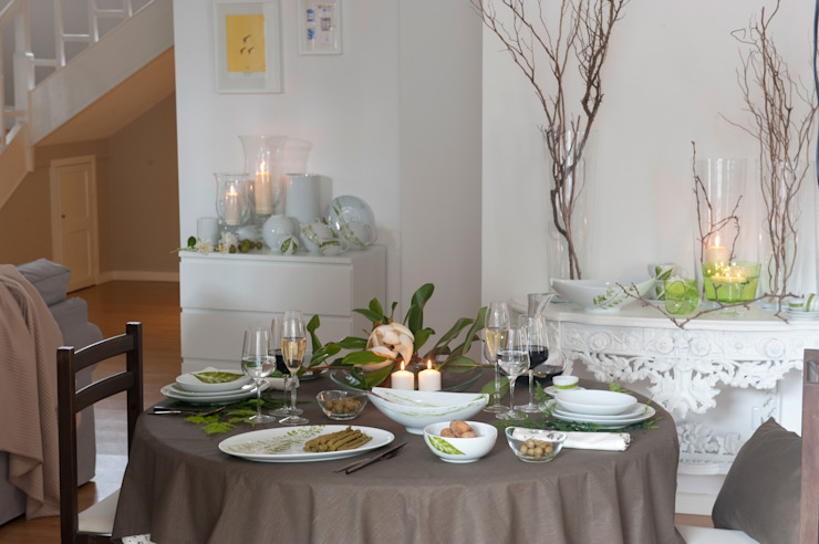 Casa Alegre Dining roomCrockery & glassware Porselen Green