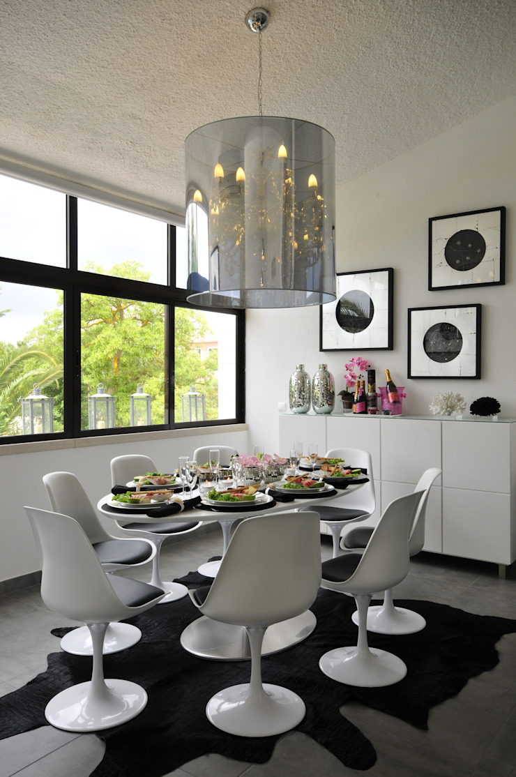 Private Residence in Vilamoura Modern dining room by Leonor Moreira Romba - Arquitecturas Modern