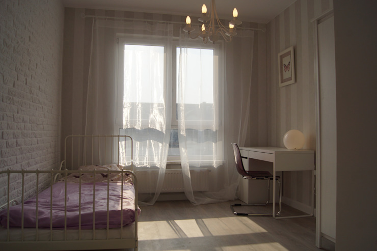 Mieszkanie pokazowe Wrocław: styl , w kategorii Pokój dziecięcy zaprojektowany przez Julia Domagała wnętrza
