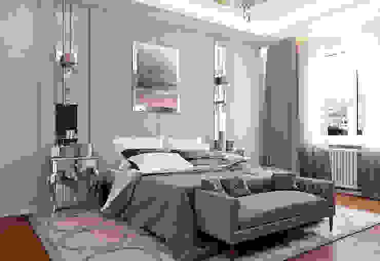 Городок Б, 117 м² Спальня в эклектичном стиле от Bronx Эклектичный