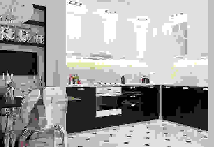 Городок Б, 117 м² Кухни в эклектичном стиле от Bronx Эклектичный