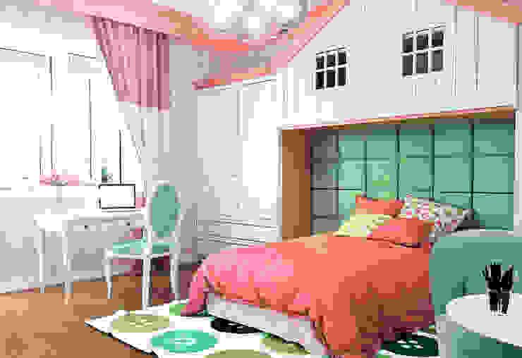 Городок Б, 117 м² Детские комната в эклектичном стиле от Bronx Эклектичный