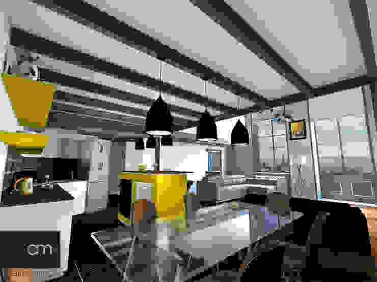 Appartement Croix Rousse (Lyon 4e) atelier AMEG Salle à manger moderne