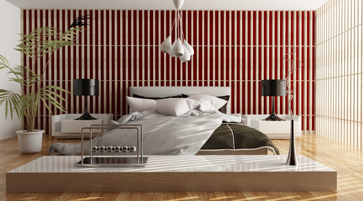 Minimalist bedroom by grafica2d3d Minimalist