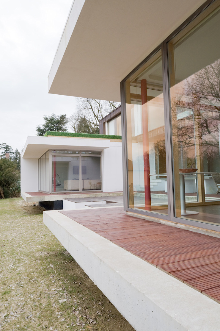 Kitchen Terrace The Chase Architecture Terrace Glass Transparent