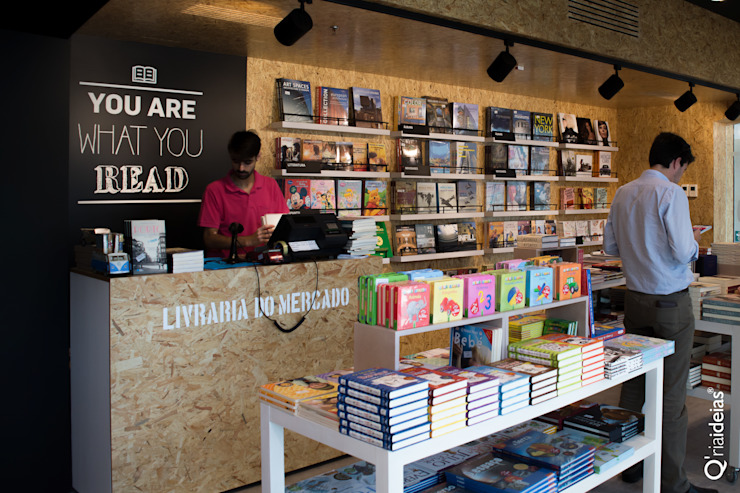 Q'riaideias Modern offices & stores OSB Wood effect