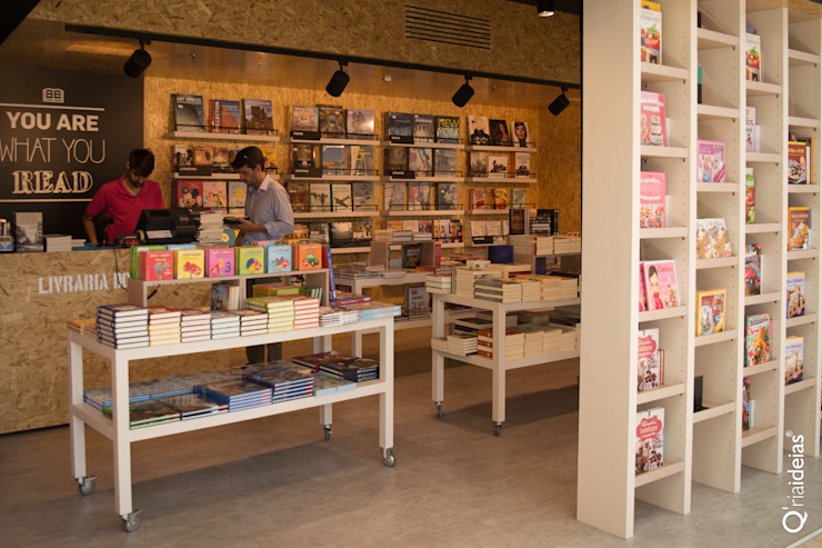 Q'riaideias Oficinas y tiendas de estilo moderno