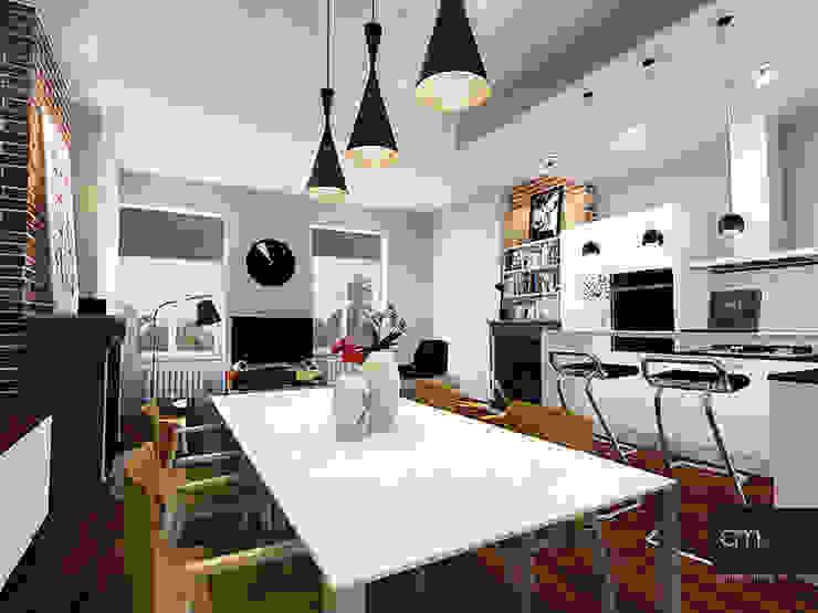 Appartement à Oullins (69) atelier AMEG Salle à manger moderne