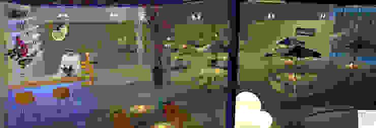 THE OCEAN Bar e Restaurante Bares e clubes tropicais por Rangel & Bonicelli Design de Interiores Bioenergético Tropical