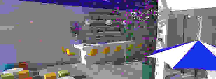 THE OCEAN Bar eRestaurante Bares e clubes tropicais por Rangel & Bonicelli Design de Interiores Bioenergético Tropical