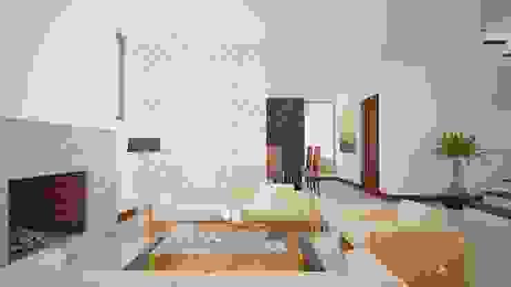 Render Interior de Arquitectura Libre Moderno