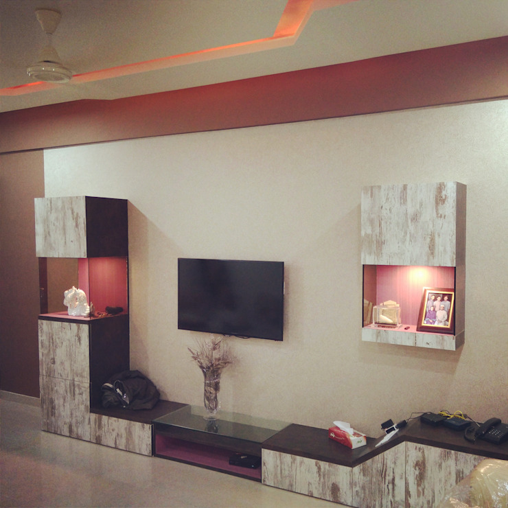 Interior works: rustic  by Envoy Interiors Pvt ltd,Rustic Plywood