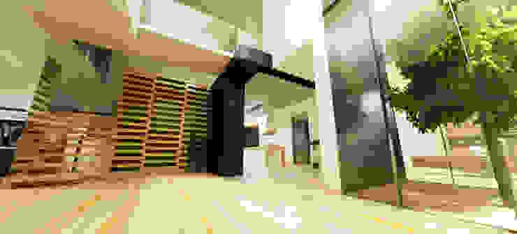 Casa N+V Corredores, halls e escadas minimalistas por GAUDIprojectos Minimalista