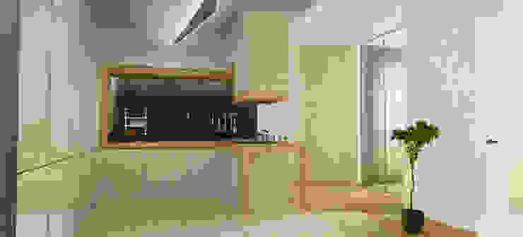 Casa N+V Cozinhas minimalistas por GAUDIprojectos Minimalista