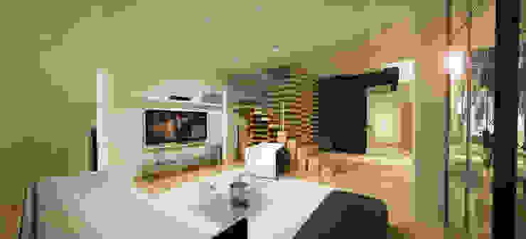 Casa N+V Salas de estar minimalistas por GAUDIprojectos Minimalista