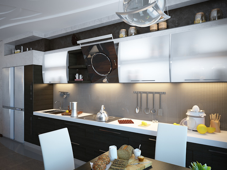 Линии воды Кухня в стиле модерн от Astar project Модерн