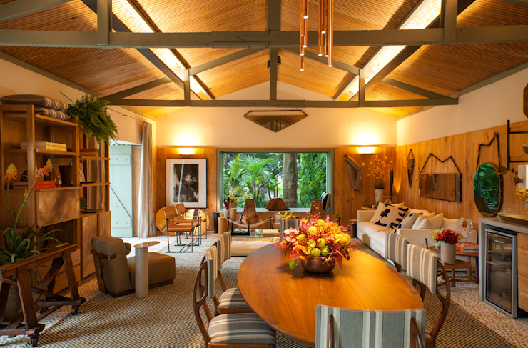 Casa Cor 2015/ A Casa da Gente Salas de jantar tropicais por Marina Linhares Decoração de Interiores Tropical