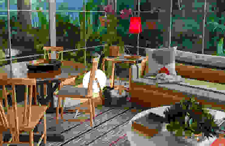 Egzotyczny salon od Marina Linhares Decoração de Interiores Egzotyczny