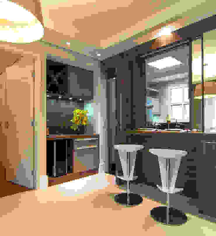 Sala de Jantar integrada com a Cozinha Salas de jantar modernas por LC ARQUITETURA Moderno