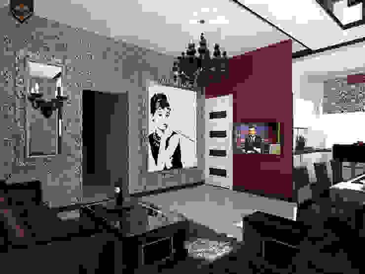 ар деко и поп-арт Гостиные в эклектичном стиле от Decor&Design Эклектичный