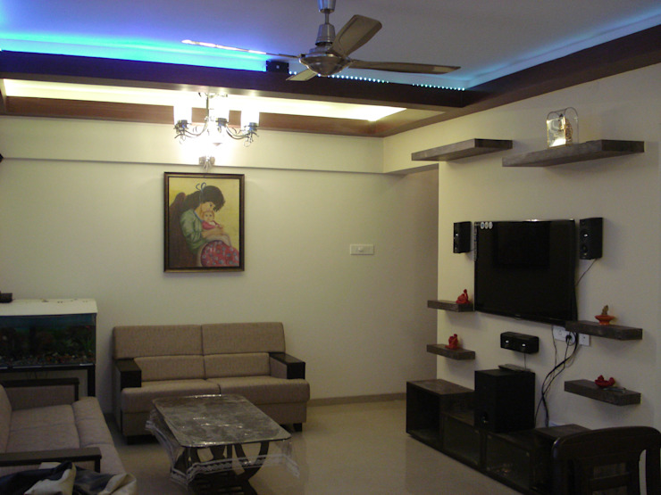 3bhk Residential Flat at Dhanori Modern living room by Global Associiates Modern