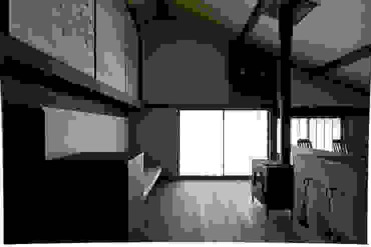 内観 和風デザインの リビング の 一級建築士事務所マチデザイン 和風 竹 緑