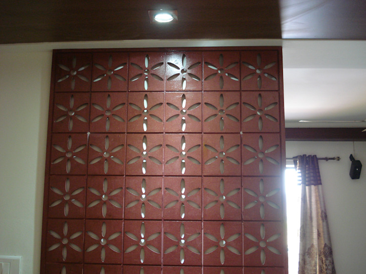 The Jali Behind the puja Modern walls & floors by Global Associiates Modern