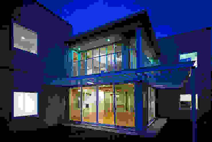 緑と空につながる家 ミニマルな 家 の 新野裕之建築設計 Hiroyuki Niino Architecture ミニマル ガラス