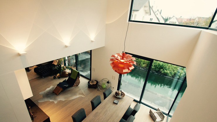 Haus M Moderne Wohnzimmer von moser straller architekten Modern