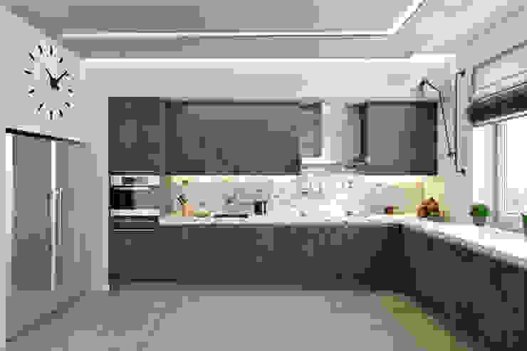 Кухня Кухня в стиле минимализм от СВЕТЛАНА АГАПОВА ДИЗАЙН ИНТЕРЬЕРА Минимализм