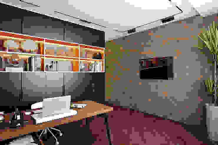 Кабинет Рабочий кабинет в стиле минимализм от СВЕТЛАНА АГАПОВА ДИЗАЙН ИНТЕРЬЕРА Минимализм