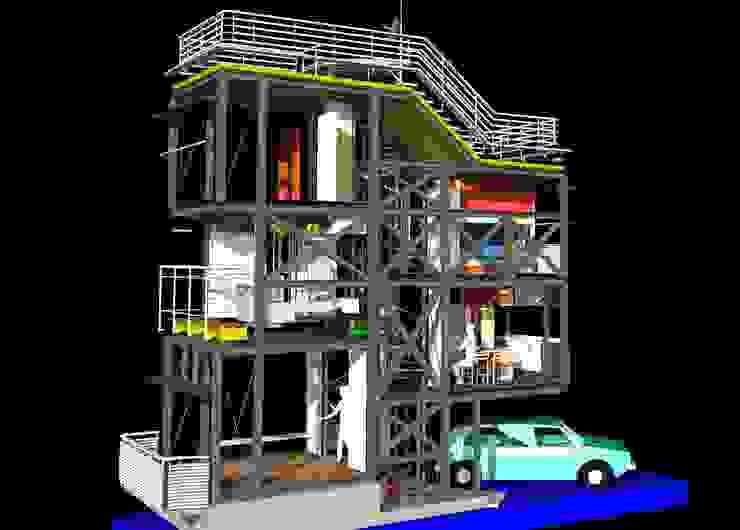 コンセプト3Dモデルのレンダリング: 有限会社 高橋建築研究所が手掛けたミニマリストです。,ミニマル