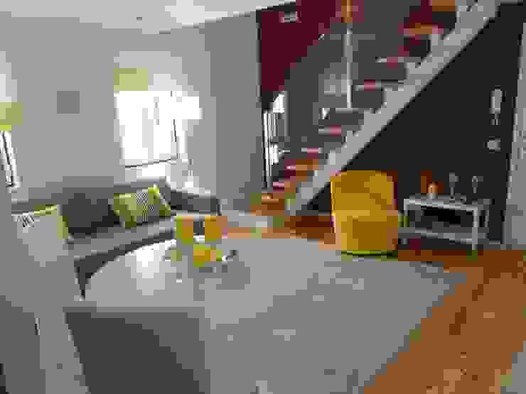 Vista Geral Salas de estar modernas por Interiores com alma Moderno