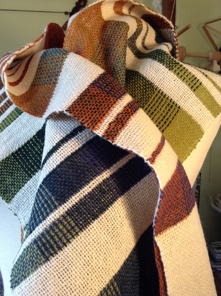 Écharpe ref. Bauhaus por Guida Fonseca Textila Art Moderno Lã Laranja