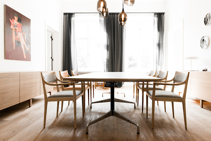 Dining room Scandinavian style dining room by Loft Kolasinski Scandinavian Wood Wood effect