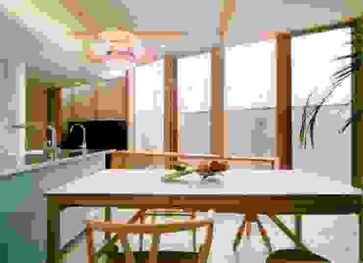 古照の家-kodera no ie- モダンデザインの ダイニング の 松永鉄快建築事務所 モダン 無垢材 多色