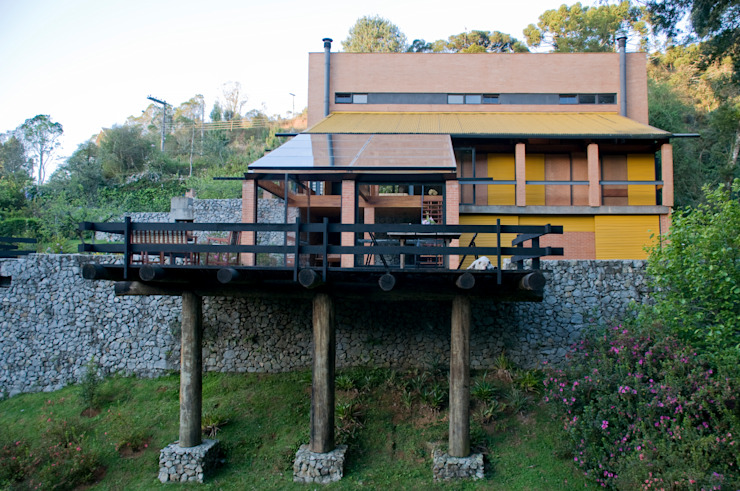Vista Geral: Casas  por Carlos Bratke Arquiteto ,